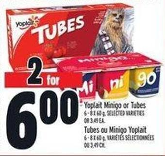 Yoplait Minigo Or Tubes