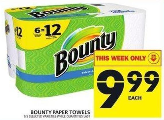 bounty paper towels bounty paper towels 6 s on salewhale ca 31051