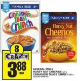 General Mills Honey Nut Cheerios Or Cinnamon Toast Crunch