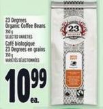 23 Degrees Organic Coffee Beans 350 g