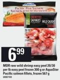 Mdr Raw Wild Shrimp Easy Peel 20/30 Per Lb Easy Peel Frozen 300 G Or Aquastar Pacific Salmon Fillets - Frozen 567 G