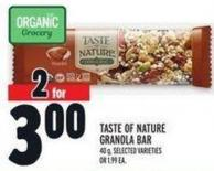 Taste Of Nature Granola Bar 40 g -