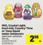 Mio - Crystal Light - Kool-aid - Country Time Or Tang Liquid Water Enhancers - 48 mL