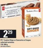 PC Cookie Chips Or Concerto Or Crepes