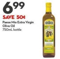 Paese Mio Extra Virgin  Olive Oil  750ml Bottle