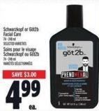 Schwarzkopf Or Göt2b Facial Care 74 - 248 ml