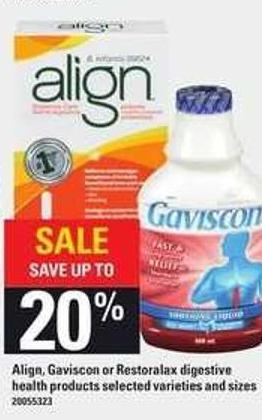 Align - Gaviscon Or Restoralax Digestive Health Products