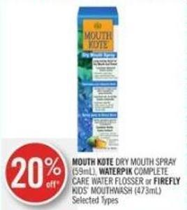 Mouth Kote Dry Mouth Spray (59ml) - Waterpik Complete Care Water Flosser or Firefly Kids' Mouthwash (473ml)