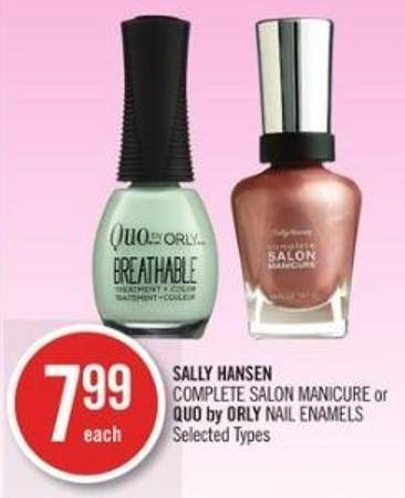 Sally Hansen  Complete Salon Manicure or Quo By Orly Nail Enamels