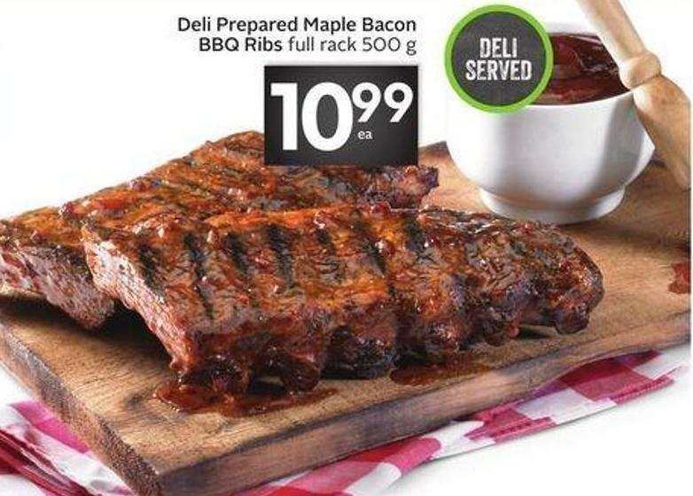 Deli Prepared Maple Bacon Bbq Ribs