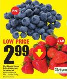Pint Blueberries or Driscoll's Organic Strawberries Product of USA - No. 1 Grade 454 g