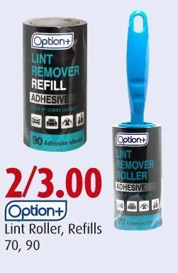 Option+ Lint Roller - Refills 70 - 90
