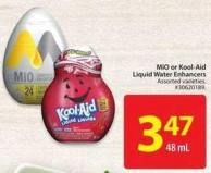Mio or Kool-aid Liquid Water Enhancers