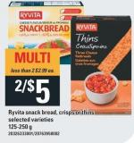 Ryvita Snack Bread - Crisps Or Thins - 125-250 g