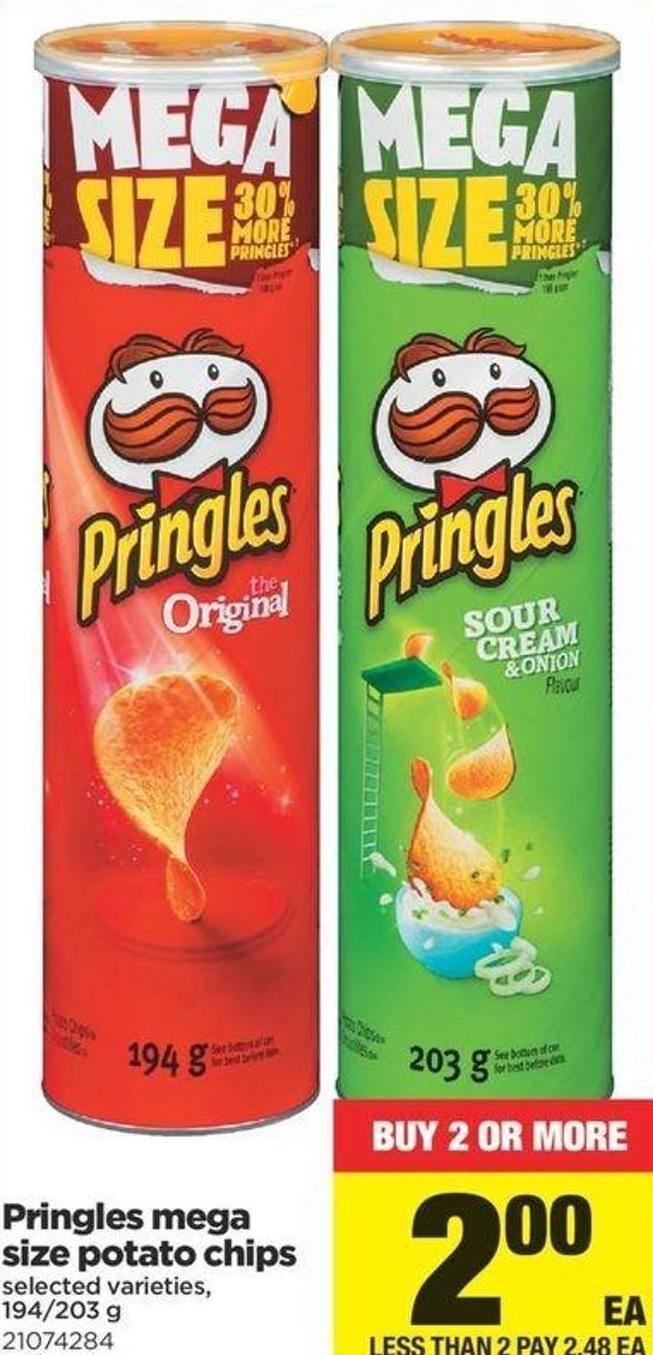 Pringles Mega Size Potato Chips - 194/203 G