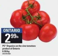 PC Organics On The Vine Tomatoes