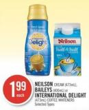 Neilson Cream (473ml) - Baileys (400ml) or International Delight (473ml) Coffee Whiteners