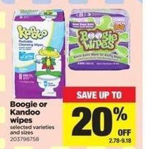 Boogie Or Kandoo Wipes