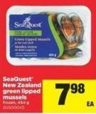 Seaquest New Zealand Green Lipped Mussels - 454 g