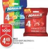 Halls Cough Drops Multipack 4's