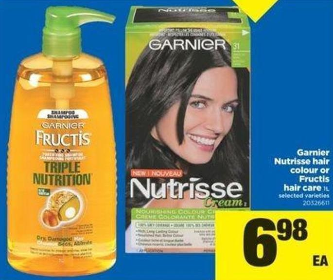 Garnier Nutrisse Hair Colour Or Fructis Hair Care - 1l