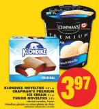 Klondike Novelties - 4-8's or Chapman's Premium Ice Cream - 2 L or Yukon Novelties - 5-8's