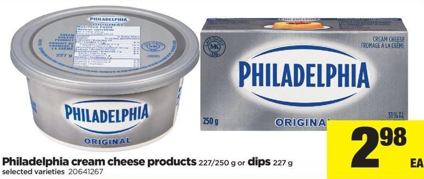 Philadelphia Cream Cheese Products - 227/250 G Or Dips - 227 G