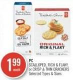 PC Scalloped - Rich & Flaky - or Crisp & Thin Crackers