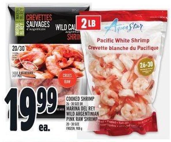 Cooked Shrimp 26 - 30 Size Or Marina Del Rey Wild Argentinian Pink Raw Shrimp 20 - 30 Size