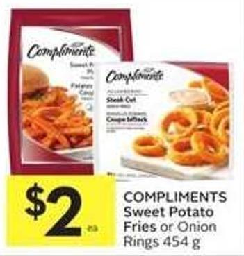 Compliments Sweet Potato Fries or Onion Rings 454 g