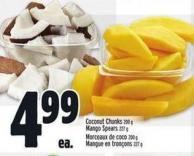 Coconut Chunks 200 G Mango Spears 227 G