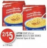 Lipton Soup (4's) or Knorr Selects Side Dishes