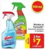 Windex or Fantastik