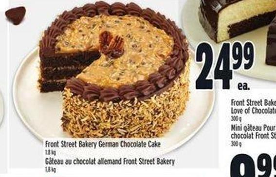 Front Street Bakery German Chocolate Cake