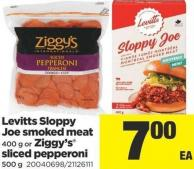 Levitts Sloppy Joe Smoked Meat 400 G Or Ziggy's Sliced Pepperoni 500 G