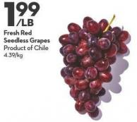 Fresh Red Seedless Grapes
