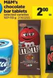 M&m's Chocolate Bar Tablets - 107-113 g