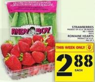 Strawberries Or Romaine Hearts