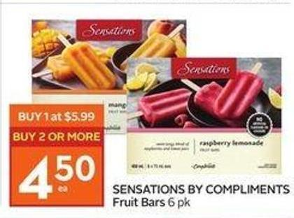 Sensations By Compliments Fruit Bars