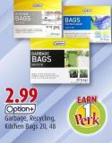 Option+  Garbage - Recycling -  Kitchen Bags  20 - 48