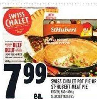 Swiss Chalet Pot Pie or St-hubert Meat Pie