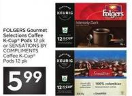 Folgers Gourmet Selections Coffee K-cup Pods 12 Pkor Sensations Bycompliments Coffee K-cuppods 12 Pk