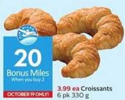 Croissants - 20 Air Miles Bonus Miles