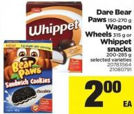 Dare Bear Paws - 150-270 g Wagon Wheels - 315 g Or Whippet Snacks - 200-285 g