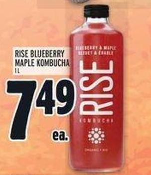 Rise Blueberry Maple Kombucha