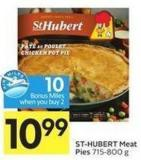 St-hubert Meat Pies 715-800 g - 10 Air Miles Bonus Miles