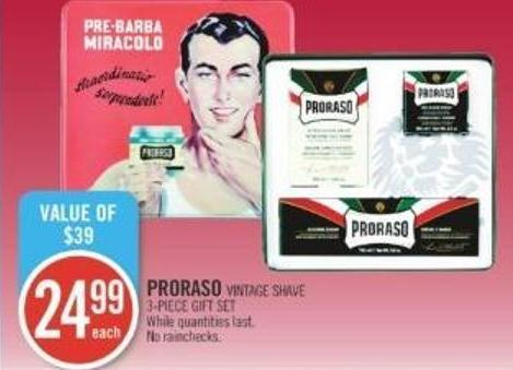 Proraso Vintage Shave 3-piece Gift Set
