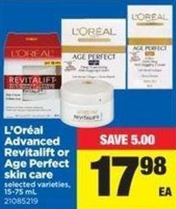 L'oréal Advanced Revitalift Or Age Perfect Skin Care - 15-75 Ml