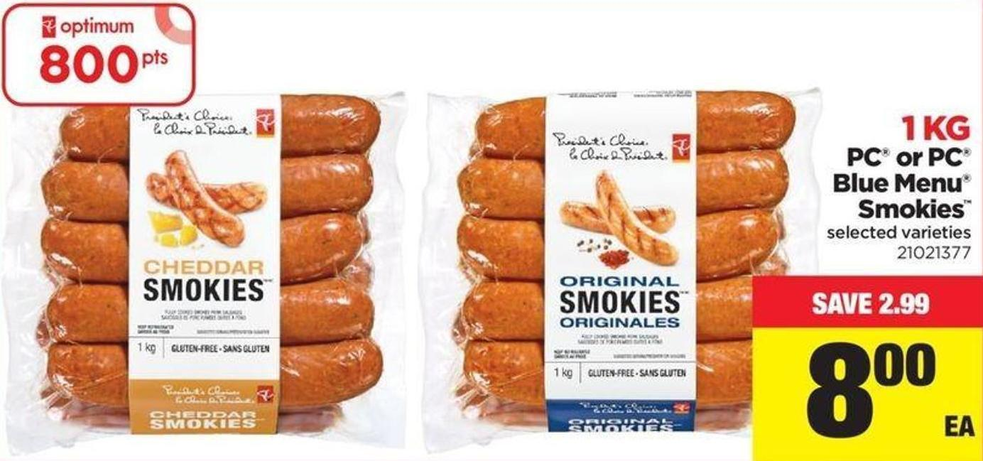 PC Or PC Blue Menu Smokies