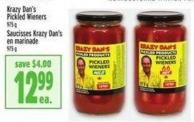 Krazy Dan's Pickled Wieners 975 g